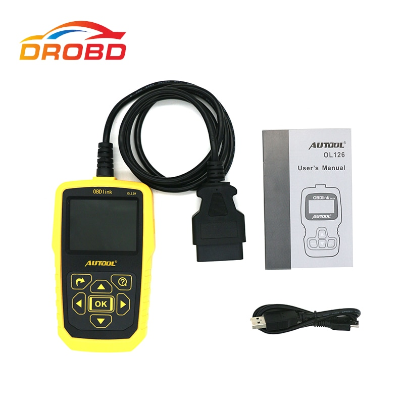 AUTOOL OL129 OBD2/EOBD KÖNNEN Universal Code Reader Scanner Motor Fehler Diagnose Werkzeug Mit Batterie Power besser Als AUTEL 519