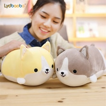 30/45/60cm Kawaii Corgi Dog Plush Toys Lovely Cartoon Stuffed Soft Cute Animal Pillow Birthda Xmas Gift For Baby Valentine Gift
