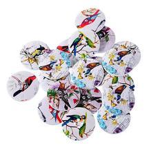 Accessoires de bricolage avec motifs floraux   (1 LOT = 10 pièces) pour bricolage, boutons décoratifs en bois, décoration de talon haut, fournitures de couture
