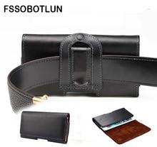 FSSOBOTLUN, pour Sony Xperia XA/XA Ultra/XZ/C4/C5 Ultra/E4/E4g/M4 Aqua coque de téléphone étui en cuir Clip ceinture étuis sac