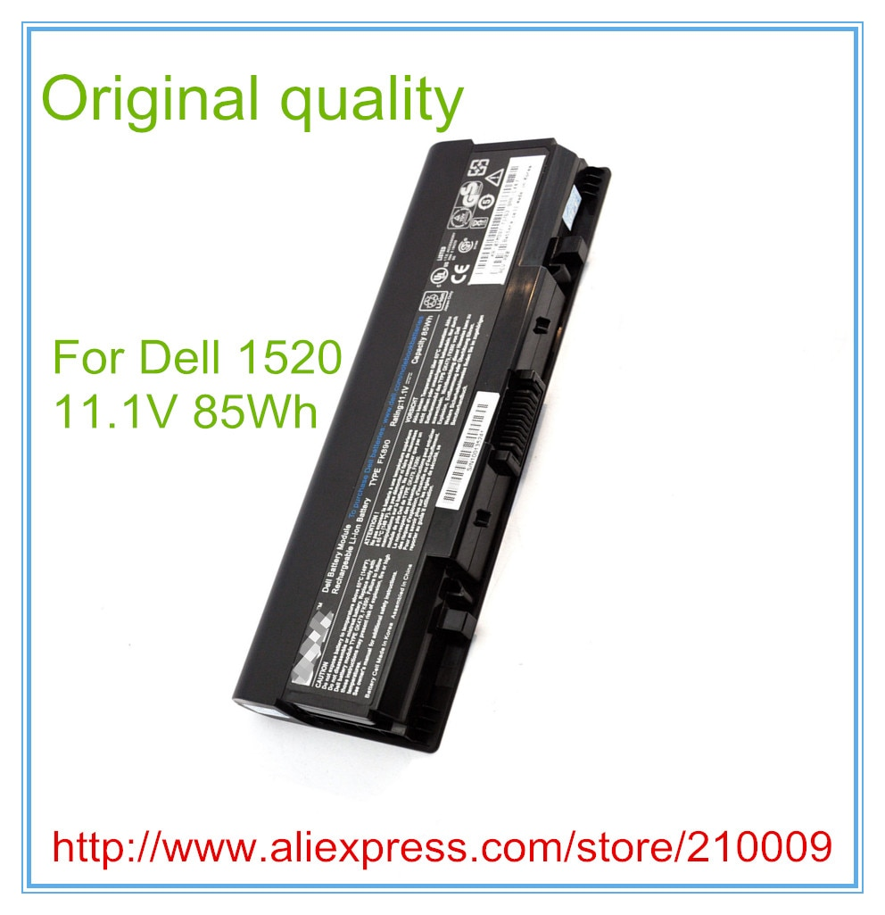 85WH Original Quality Laptop Battery for  1310 1320 1510 1520 2510 K738H G818K T116C T112C T114C 9CELL