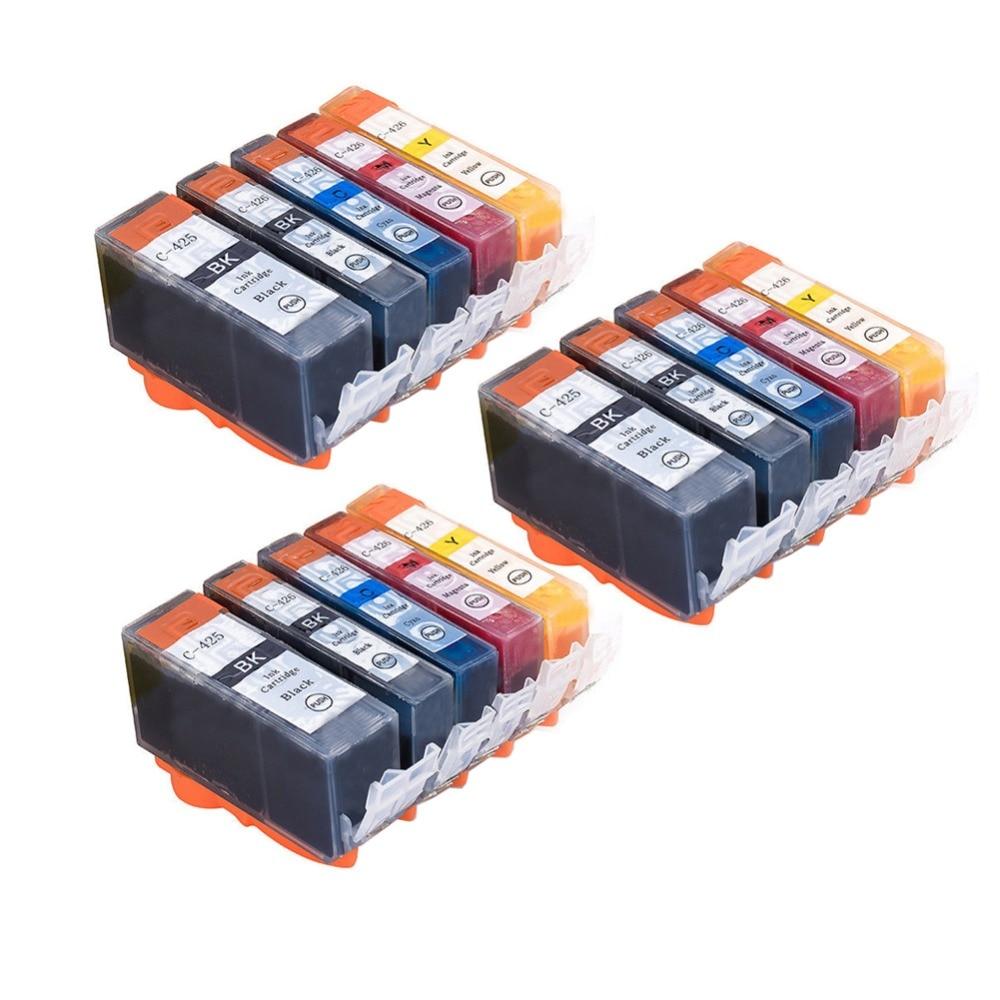 YLC 15 шт. PGI425 CLI426 PGI-425 CLI-426 совместимый для Canon MG5140 MG5240 MG5340 IP4840 MX884 IX6540 IP4940 MG5340 MX714 MX894