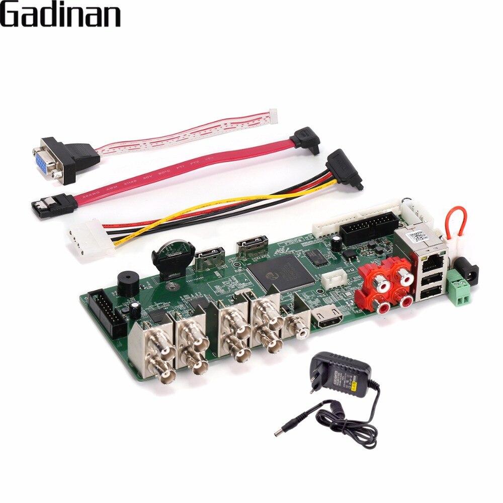GADINAN H.264 grabador de vídeo en red DIY Placa de 8 canales 1080N/16 canal 1080 P/4CH 5MP NVR/AHD/CVI/TVI/CVBS HDMI DVR ONVIF