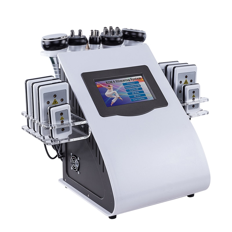 New Model 40k Ultrasonic Liposuction Cavitation 8 Pads LLLT Lipo Laser Slimming Machine Vacuum RF Sk