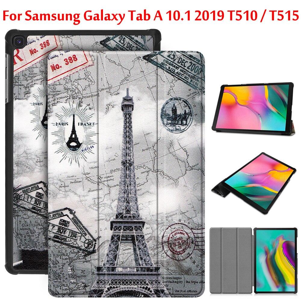 Чехол-книжка для Samsung Galaxy Tab A, 2019, чехол 10,1 ''T510 T515, умный чехол для Samsung Tab SM-T510, SM-T515, чехол чехол
