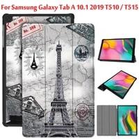 folio cover case for samsung galaxy tab a 2019 case 10 1 t510 t515 smart case for samsung tab sm t510 sm t515 funda capa