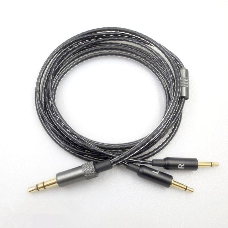 Atualizado cabo de fone de ouvido para sennheiser hd447 hd437 hd202 fone de ouvido substituição fio de áudio 3.5mm a 2.5mm