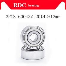 2PCS ABEC-5 6004ZZ 6004Z 6004 ZZ kugellager 20x42x12mm Hohe qualität rillenkugellager lager Mini Miniatur Kugellager