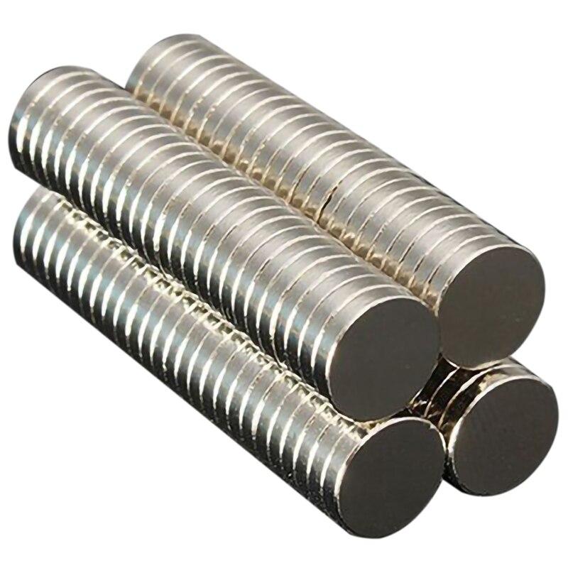 500Pcs 10x2 Exact Size D10Mm x 2Mm Strong Power Small Neodymium Fridge Magnet Ndfeb Permanent Rare Earth Diy Fasterners 10 x2M