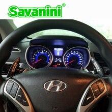 Savanini-volant de volant de voiture en aluminium DSG Paddle manette de vitesse Extension de vitesse pour Hyundai Elantra accessoires de voiture de style
