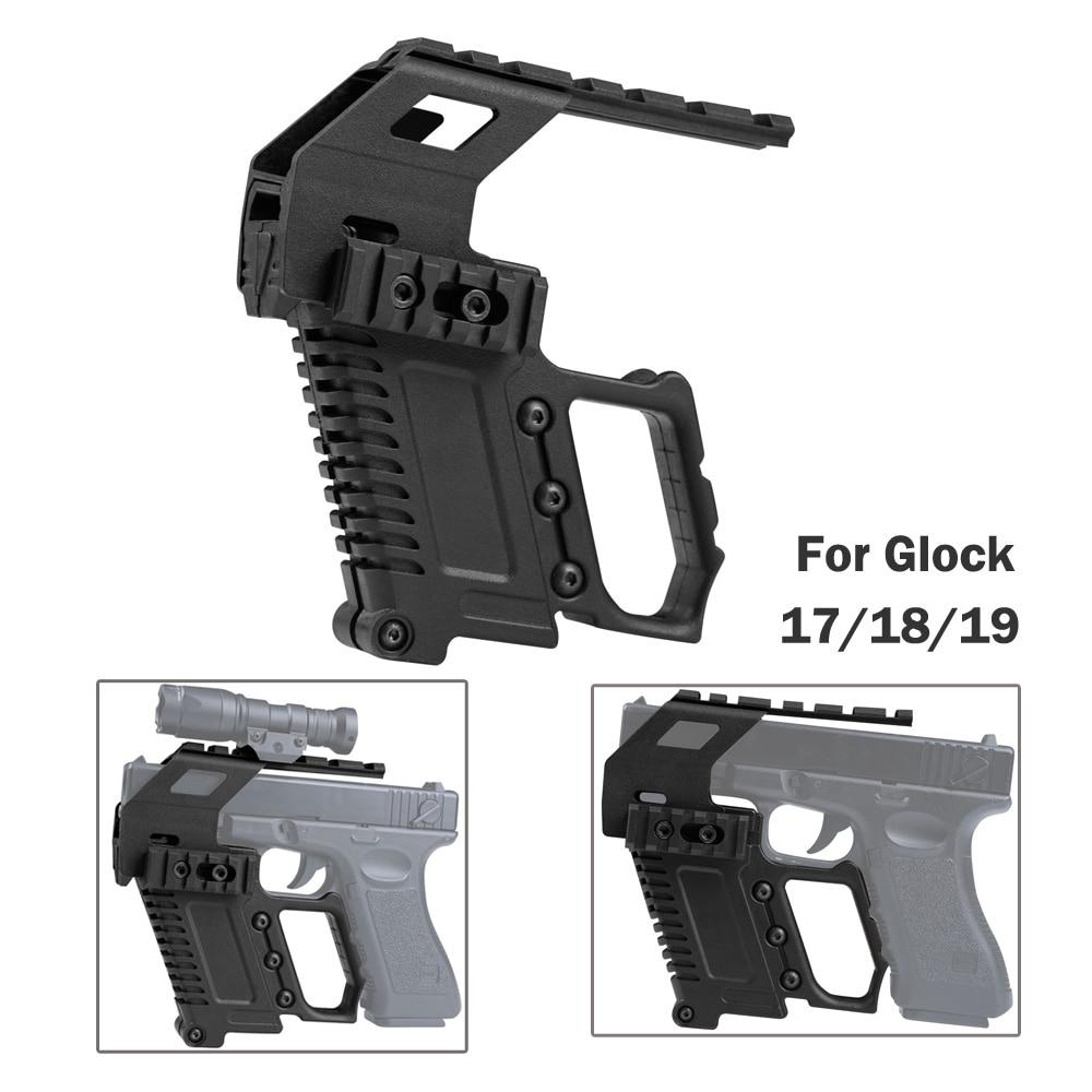 Tactical Pistol Glock Rail Base Loading System Pistol Carbine Kit Quick Reload Glock Mount For Glock Series G17 18 19