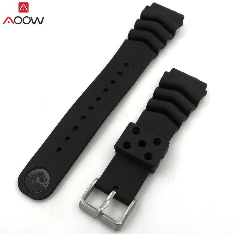 Aoow genérico pulseira de silicone borracha relógio pulseiras 18mm 20mm 22mm relógios cinto à prova dwaterproof água esporte cintas 2019 mais novo