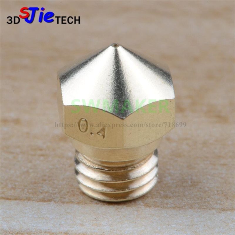 MK10 Extruder Nozzle 0.2mm~2.0mm, M7 thread F/ Creator pro, Wanhao D4 and I3, finder 3D Printer
