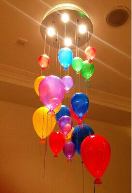 40 CM europeo moderno LED vidrio colgante comedor personalidad creativa globo lluvia cortina lámpara iluminación