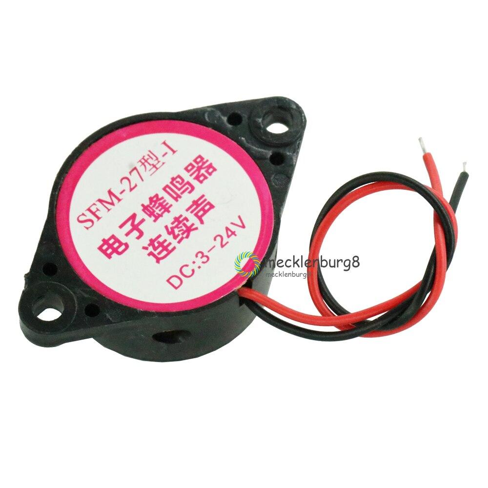 Melhor preço 10 pcs. Durável 3-24V piezoeléctricos sounder alarme 95db sinal sonoro contínuo para carro Arduino SFM-20B DC3-24V