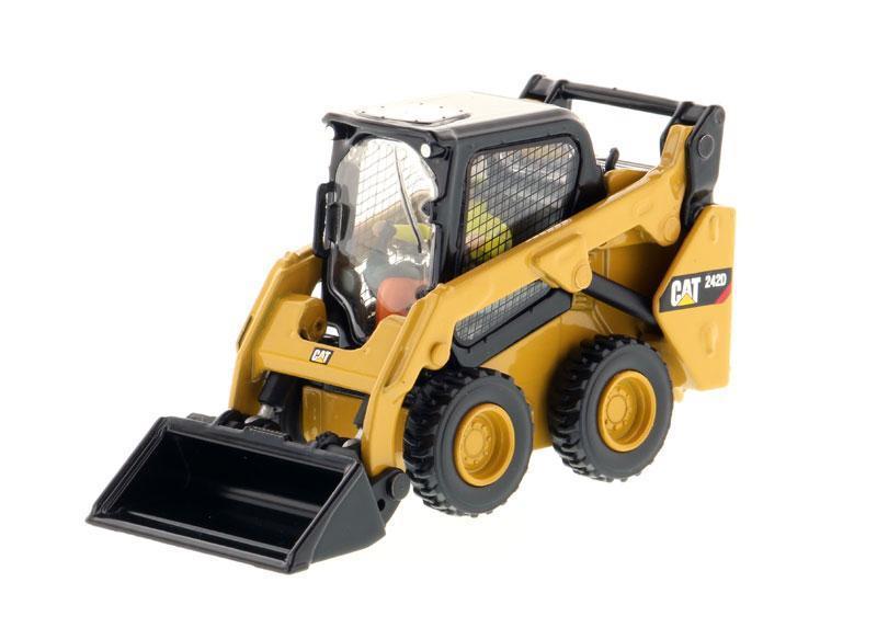 Diecast Toy Model DM 1:50 Caterpillar Cat 242D ، جرافة حضرية مدمجة ، آلات هندسية ، مجموعة ، هدية للرجال ، موديل 85525