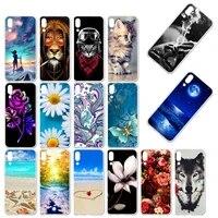phone case for umidigi one max case silicone floral painted bumper for umi digi one pro cover soft tpu back fundas