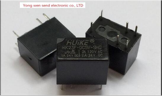 جديد الاتصالات 5V تتابع HK23F-DC5V-SHG HK23F-5VDC-SHG HK23FDC5VSHG DC5V 5VDC 5V HUIKE 6PIN شحن مجاني