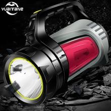 Reflector LED de alta potencia, linterna de Linterna recargable con USB portátil, lámpara de tomas largas multifunción