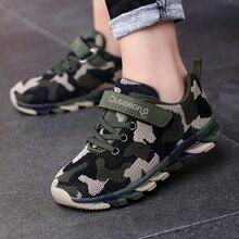 Baskets de Camouflage pour enfants, chaussures de Sport pour garçons et filles, de course, respirantes à maille dair, chaussures dextérieur de larmée, vert