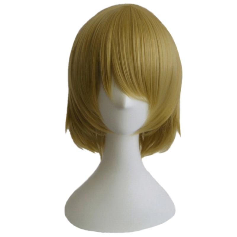 ¡Anime de alta calidad Love Live! Peluca sintética LoveLive Koizumi Hanayo, peluca corta de colores mezclados para Cosplay, peluca gratis