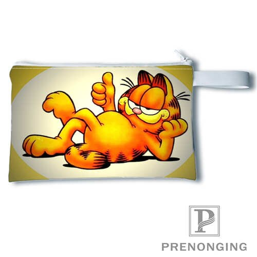 Monedero con impresión personalizada Garfield (2) @ 1 monedero con cremallera Zero Wallet bolsas para llave y teléfono de moda pequeño monedero femenino #19-01-22-4-208