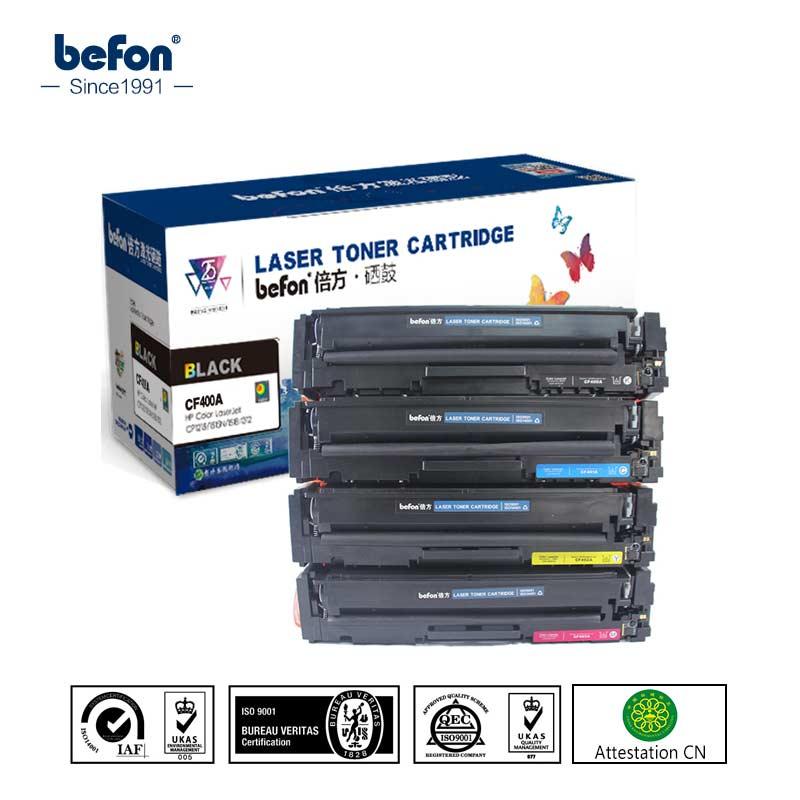 Befon CF400A CF400 400a 400 401A Vervanging voor HP201A HP201 201A Tonercartridge LaserJet ProM252 M252dw M277n M252N M277dw