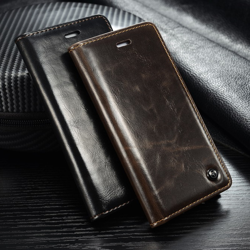Para iPhone 6 6s 7 7 Plus X XR XS. Caso de cuero de la PU cubierta de la carpeta para Coque Samsung Galaxy A6 A7 A8 A9 J6 2018 J4 J6 caso Plus