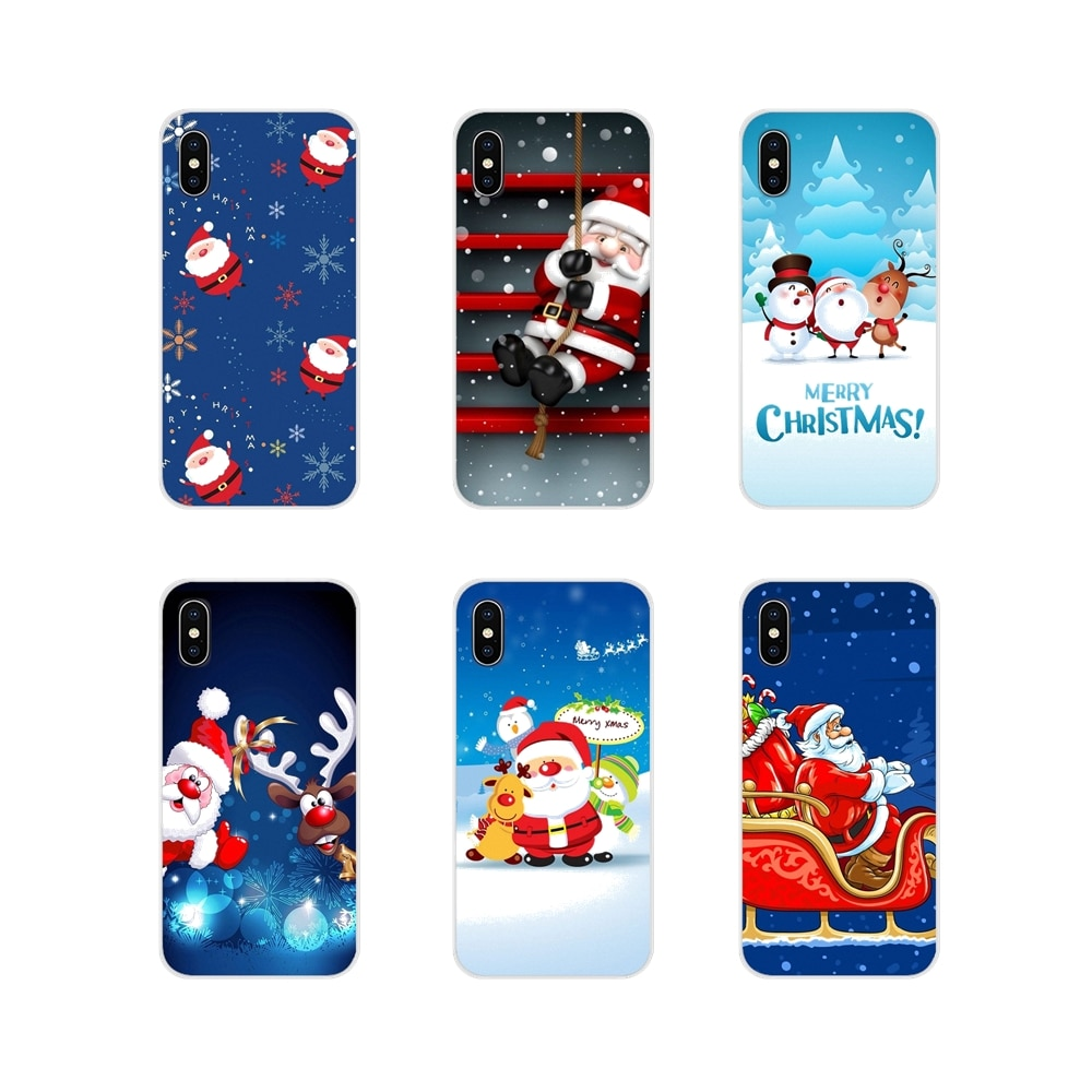 Funda de silicona para Samsung Galaxy J1, J2, J3, J4, J5, J6, J7, J8 Plus 2018, Prime 2015, 2016, funda para teléfono móvil con dibujos de Papá Noel y Navidad