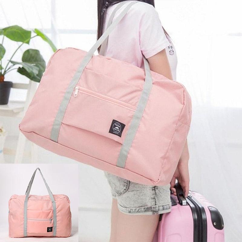 New Large Casual Waterproof Travel Bags Clothes Capacity Shoulder Bag Foldable Handbag Duffle Bag Sa