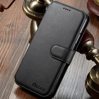 luxury leather wallet case for samsung galaxy a9 2018 retro card slots wallet flip leather phone cover for galaxy a9 2018 case