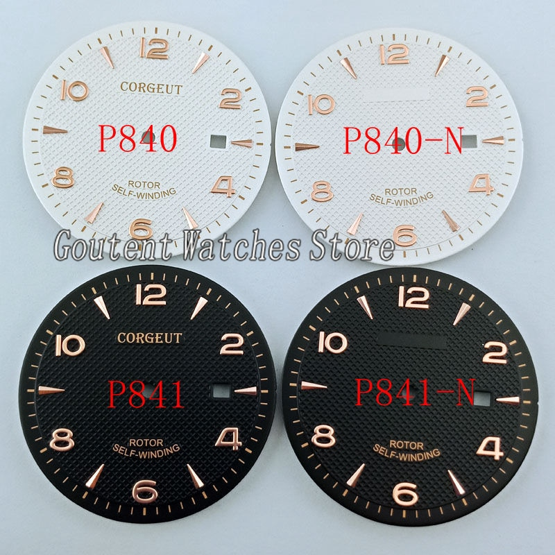 35.6mm Corgeut Watch Dial Fit ETA 2836 Miyota 8215 8205 821A Movement