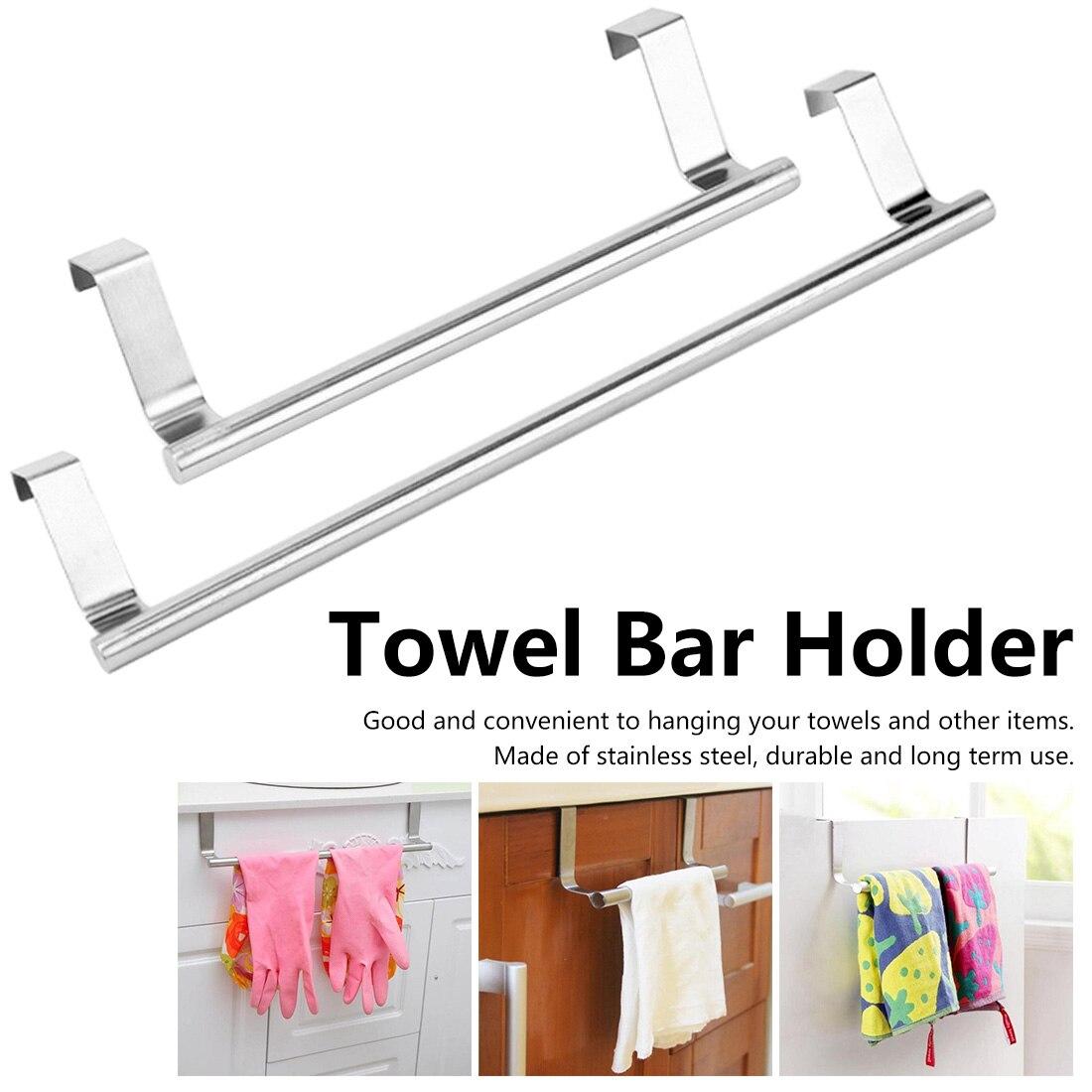 Soporte de toalla montado en la pared para gabinete, cajón, toallero colgante, soporte de almacenamiento, colgador de puerta, colgador de toallero de baño y cocina