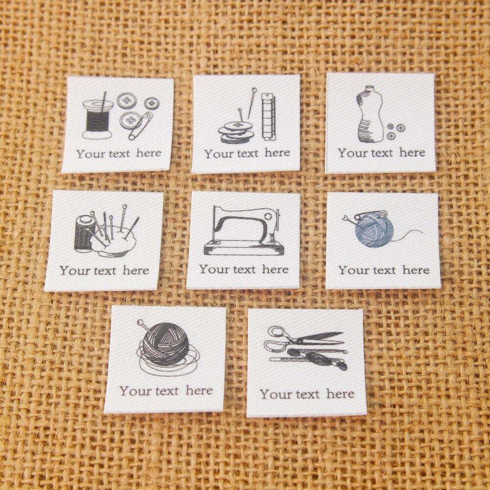 96 etiquetas personalizadas, etiquetas de ropa personalizadas, etiquetas de nombre, etiquetas de planchado, ropa hecha a mano (TB296)