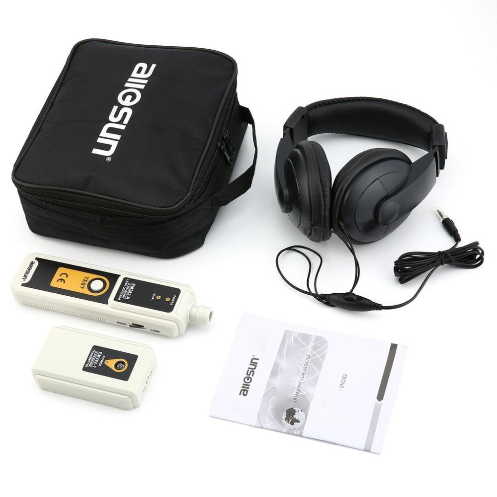 Allsun EM282 Detector de fugas ultrasónico, transmisor de 40KHz, detección fiable, Monitor de fugas de líquido de Gas, indicador LED