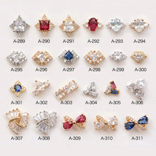 New 5pcs top-level nail art Zircon alloy Accessories luxury zircon crystal nail salon jewelry nail beauty diamond Charms
