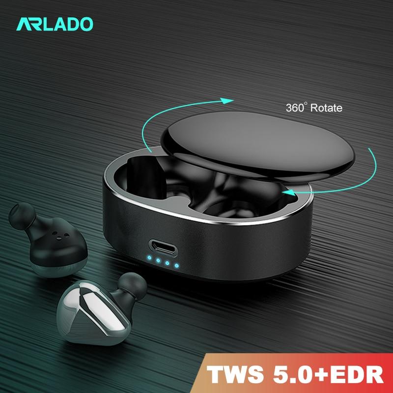 Arlado T50 TWS Bluetooth auriculares inalámbricos Bluetooth reducción de ruido estéreo auriculares deportivos para IOS Android auricular