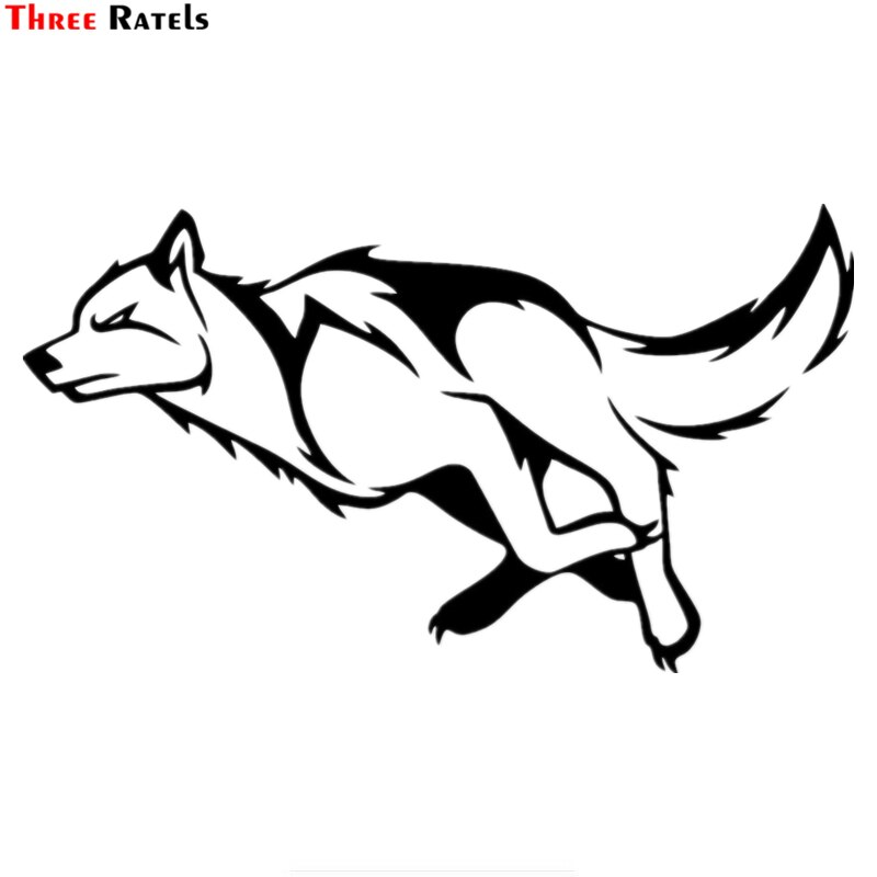Three Ratels TZ-957 #12*21,2 cm 1-3 piezas vinilo coche etiqueta engomada lobo corriendo auto pegatinas de coche
