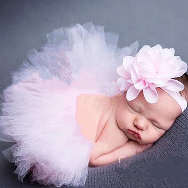 Accesorios de fotografía recién nacido bebé Tutu falda sombrero diadema conjunto fotos Accesorios de fotografía accesorios fotografia