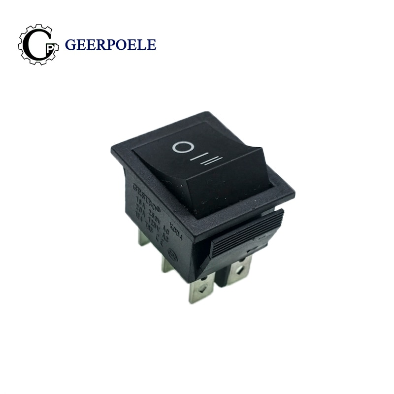 2 pçs/lote KCD4 31*25mm pés de Cobre 6PIN SPDT Snap-in Boat Rocker Switch on I II interruptor de posição 16A 250V