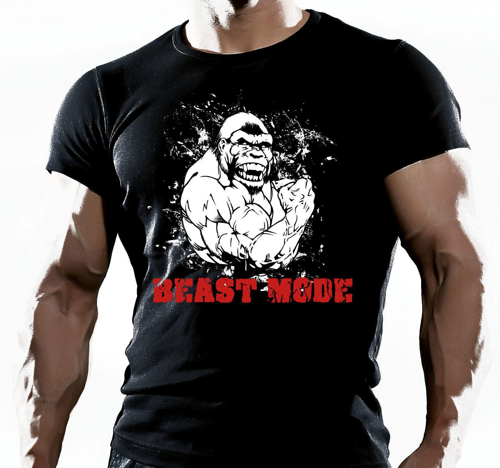 UOMO PALESTRA camiseta MMA BODYBUILDING MOTIVANTE ESERCIZI ALLENAMENTO camiseta Casual de manga corta para hombres ropa de verano