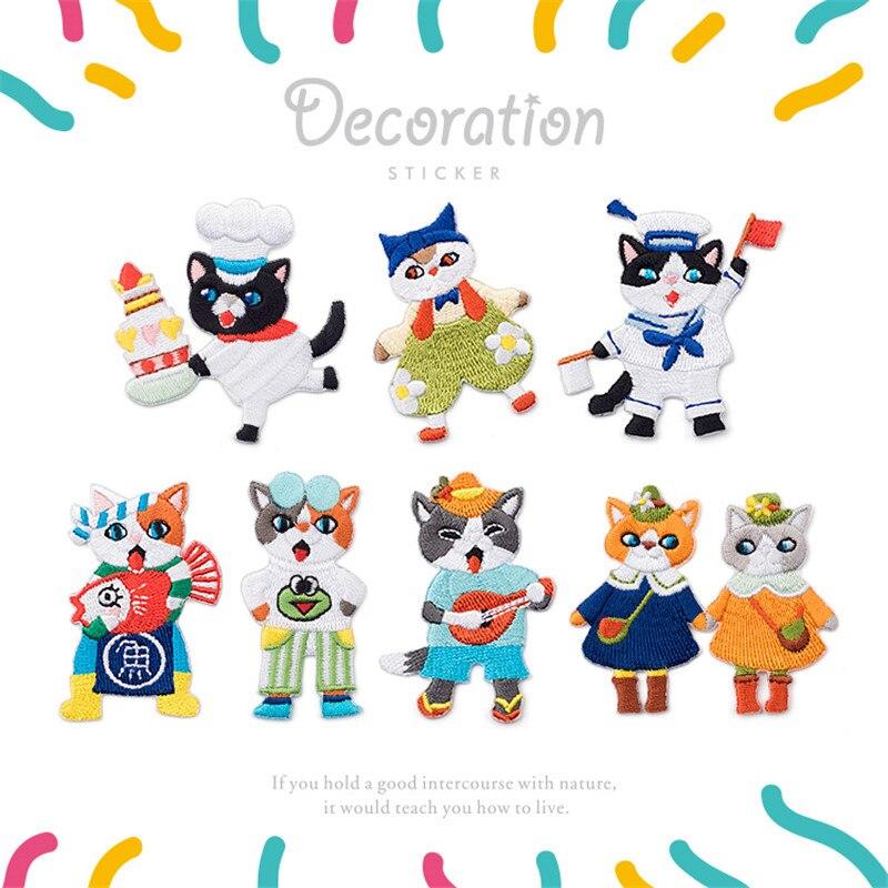 Maxsin, 1 pieza, parche bordado de gato bonito para bebés, adhesivos para ropa DIY, bolso de vestir, sombrero, zapatos, accesorios DIY, apliques