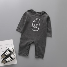 Baby Kleding Pasgeboren Jumpsuits Baby Boy Meisje Romper Kleding Lange Mouw Zuigeling Afdrukken 1 9 12 Maanden