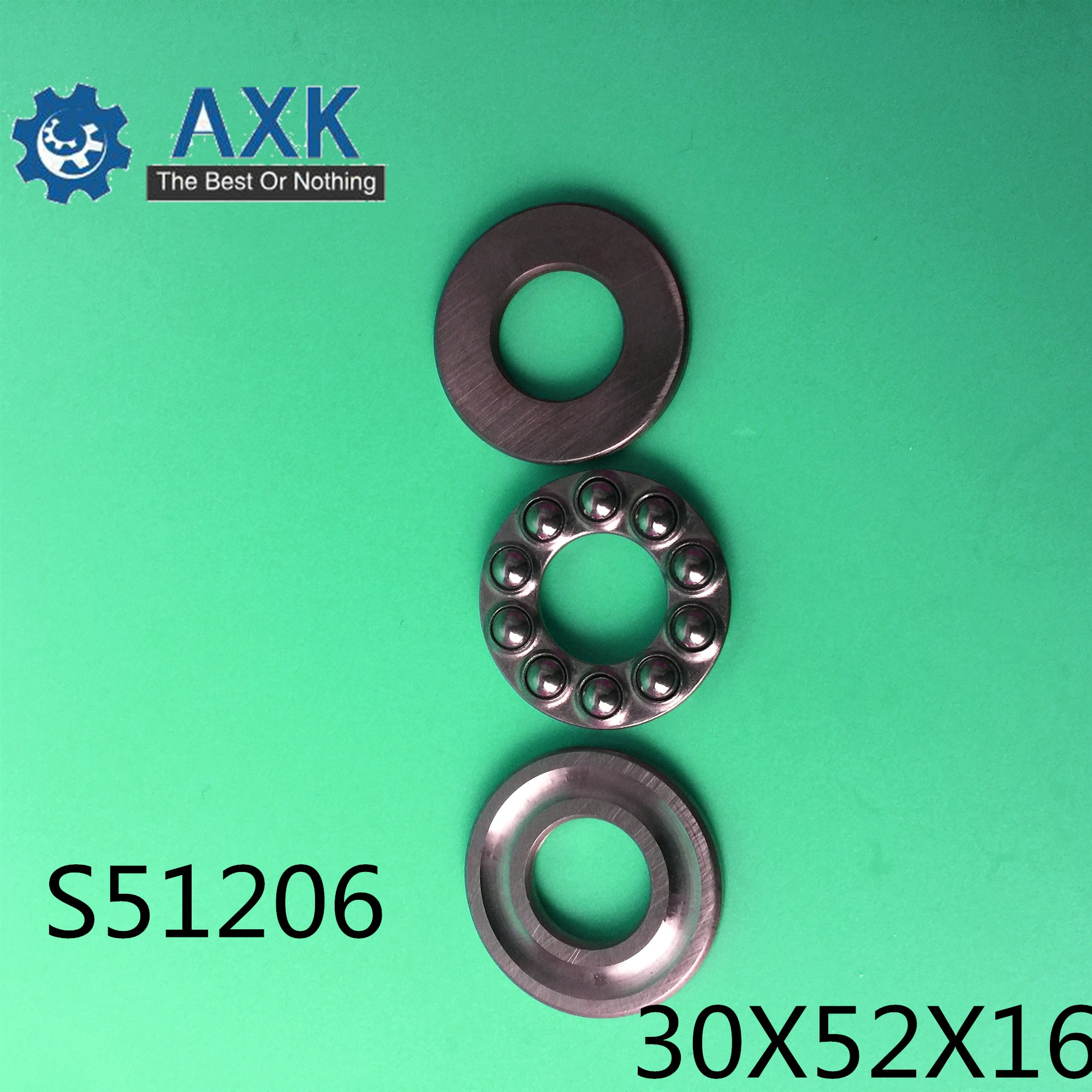 2pcs set stainless steel ball bearing smr105 2os cb abec 7 ld 5 10 4mm S51206 Bearing 30*52*16 mm ( 2PCS ) ABEC-1 Stainless Steel Thrust S 51206 Ball Bearings