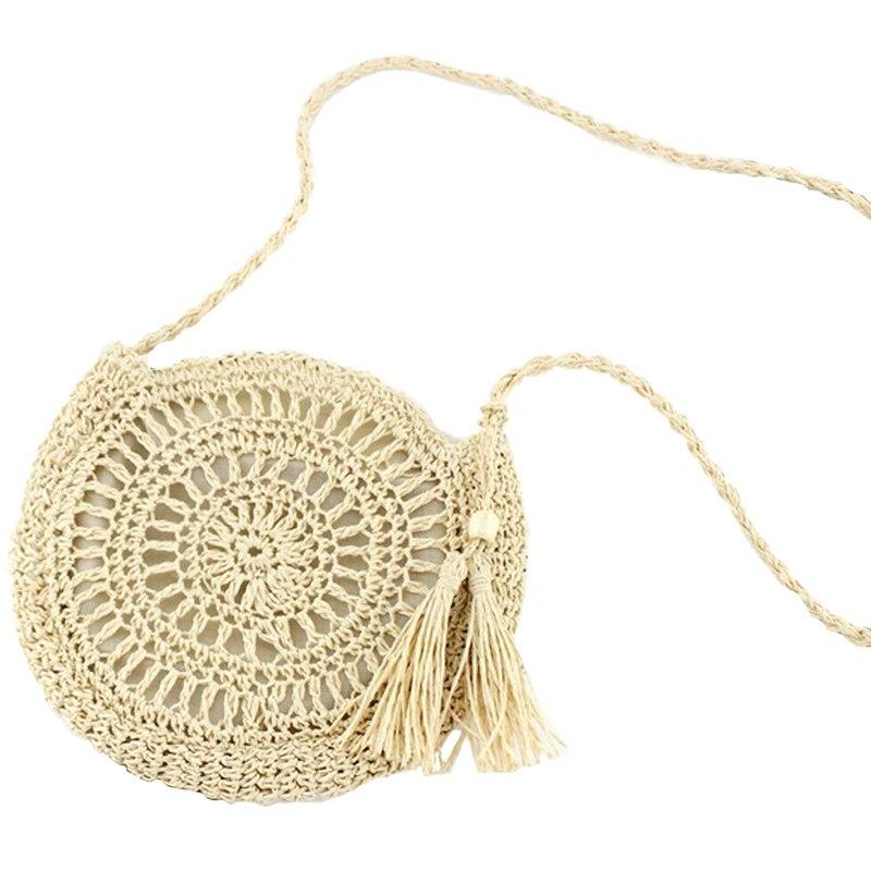 TFTP-Handmade Women Summer Straw Beach Bag Tote Shoulder Basket Shopping Handbag Bags