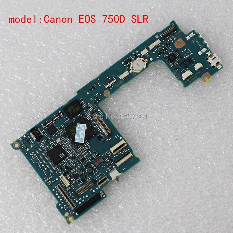 새로운 메인 회로 기판/마더 보드 pcb 수리 부품 canon eos 750d 용, kiss x8i, rebel t6i ds126571 slr