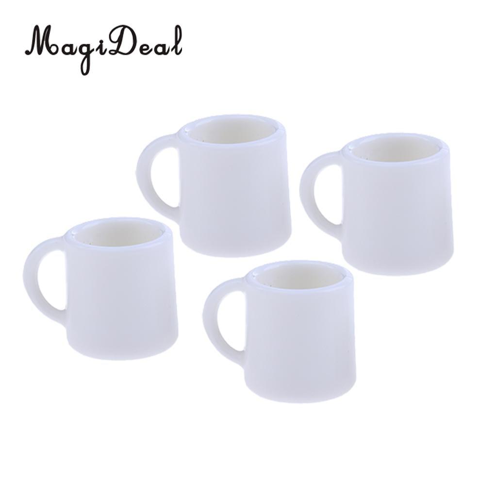 4 Uds 1/12 tazas de café y vino en miniatura para té de la leche, vajilla para casa de muñecas, accesorios de decoración para casa de muñecas