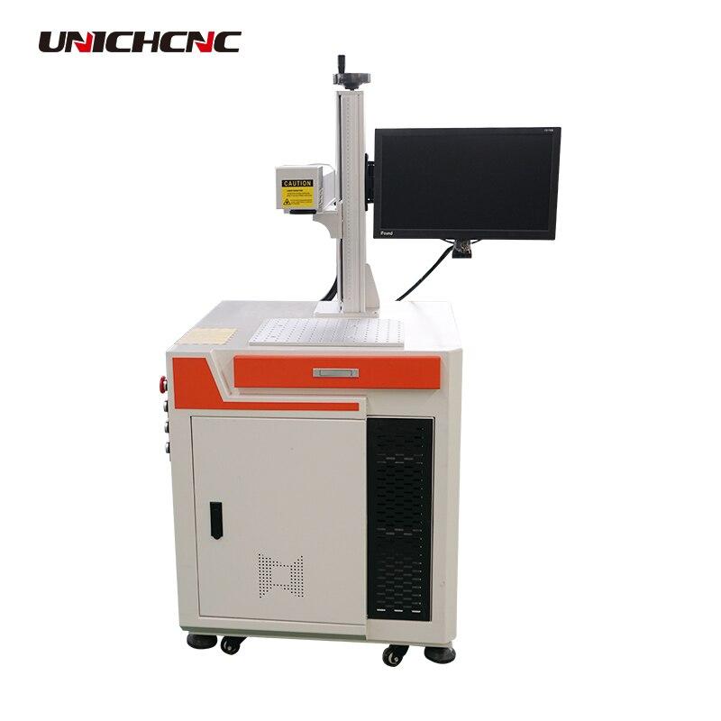 Máquina de grabado láser UNICH de acero inoxidable, cobre, latón y aluminio de 20 w, marca de color