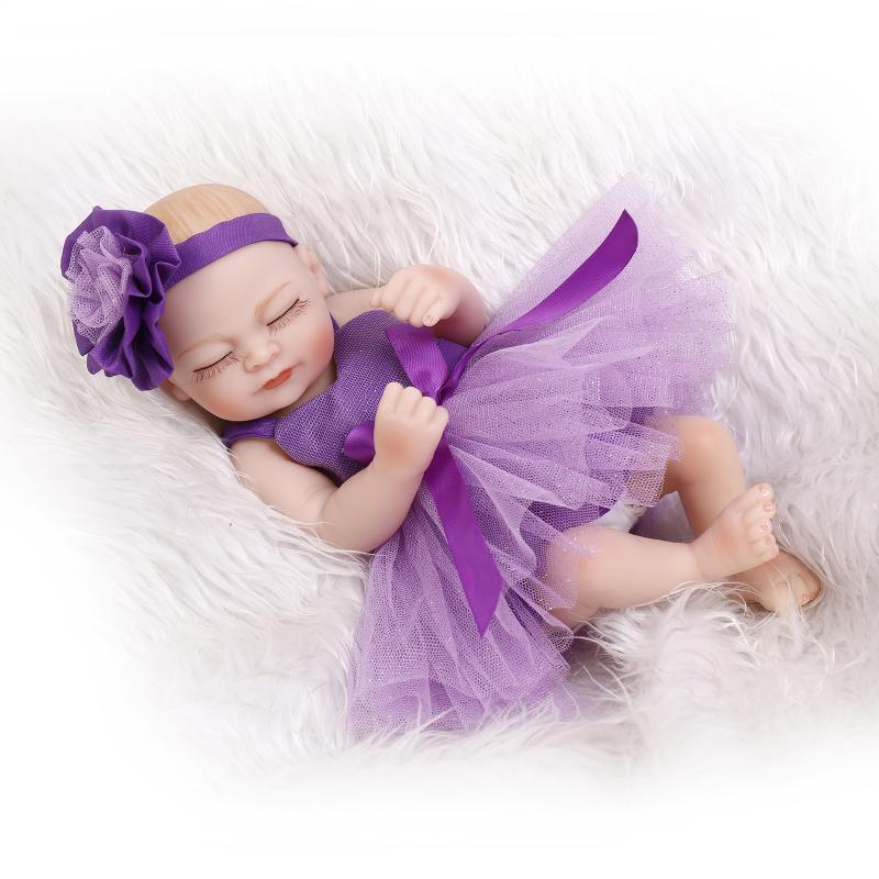 Muñecas reborn de tamaño pequeño de 27CM, muñecas de cuerpo entero de silicona baratas, muñecas bebé con barba y cabeza, regalo para bebé, muñecas reborn realistas