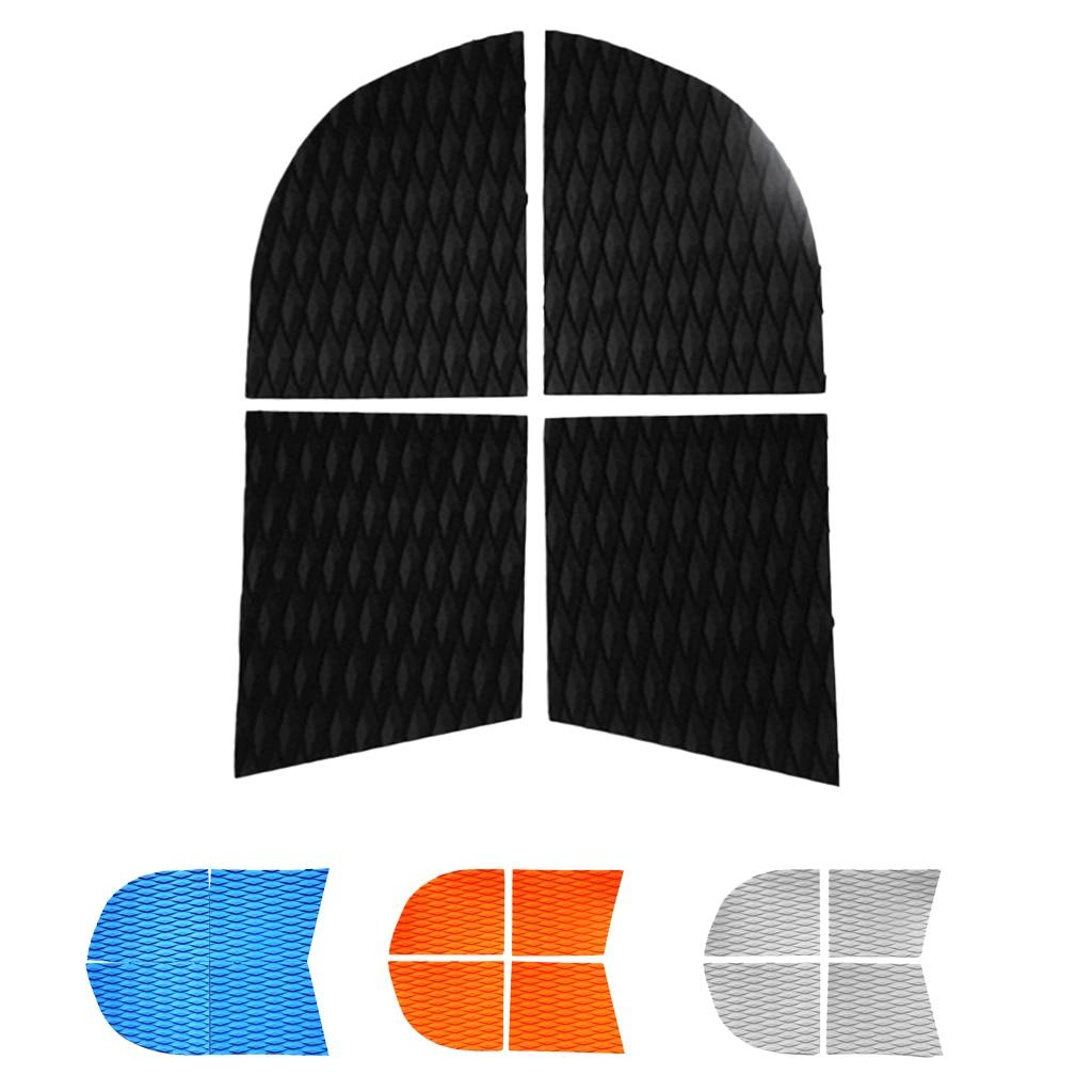 Tapis de poignée de plate-forme de coussin de Traction de chien de compagnie rainuré par diamant de 4 pièces pour des accessoires de Surf de paddle-board debout